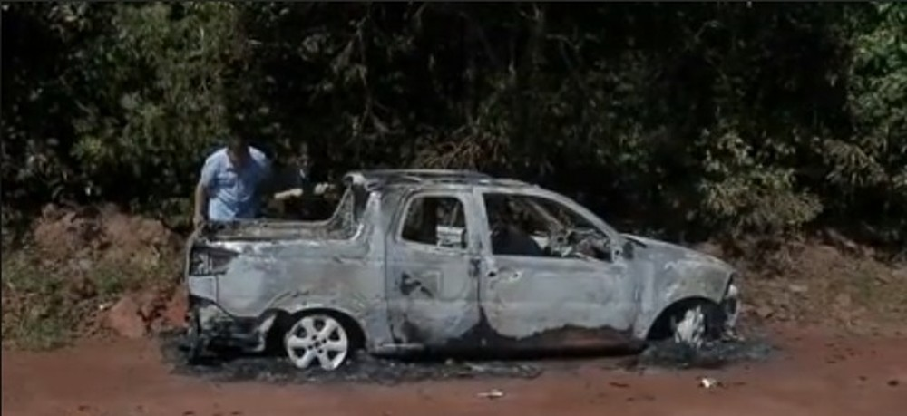 Corpo é encontrado carbonizado dentro de carro queimado em MT