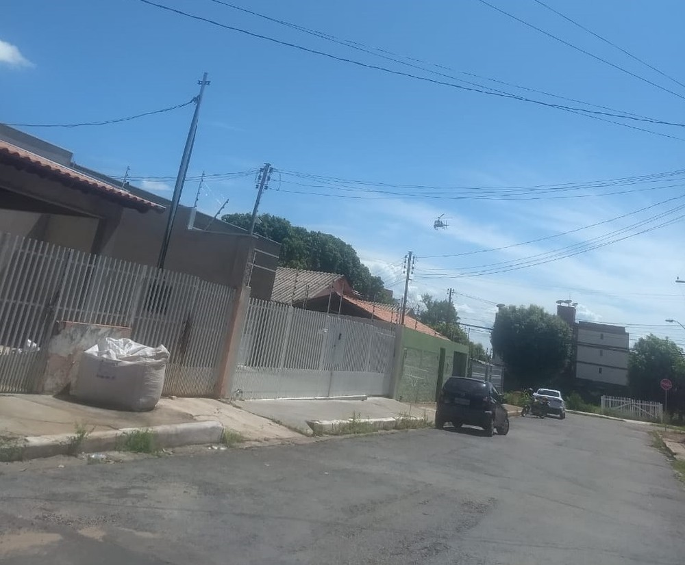 Região onde o roubo ocorreu no Bairro Morada do Ouro, em Cuiabá — Foto: PM - MT