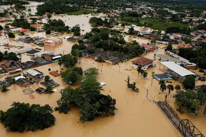 Enchente histórica atingiu o Acre em fevereiro de 2021 - Sérgio Vale/Agência de Notícias do Acre