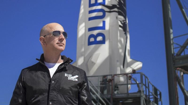 Bezos vai realizar 'sonho de infância' ao lado o irmão e 'melhor amigo' Mark - (Foto: DIVULGAÇÃO/BLUE ORIGIN)