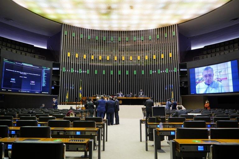 Arthur Lira preside a sessão deliberativa - (Foto: Pablo Valadares/Câmara dos Deputados)