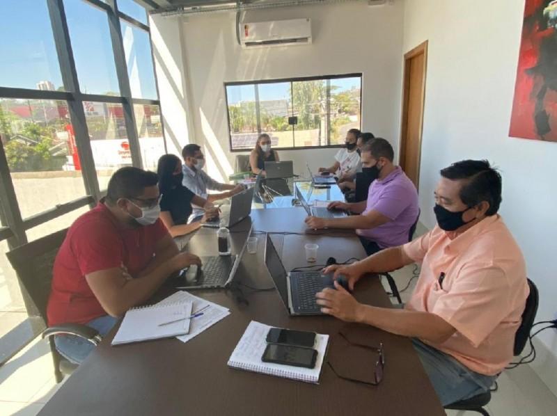 Equipe da Seciteci fazendo o curso MEG-Tr de forma virtual - Foto por: Camila Paulino