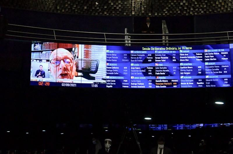 Senador Espiridião Amin (PP-SC) disse que a não realização de sessões da Comissão mais importante do Senado gera especulações sobre os motivos disso estar acontecendo - Waldemir Barreto/Agência Senado