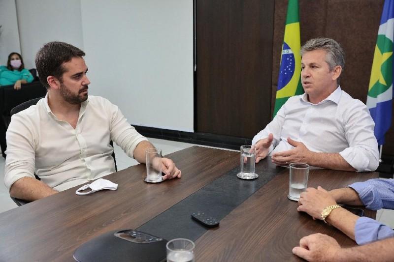 Os governadores Mauro Mendes e Eduardo Leite - Foto por: Mayke Toscano/Secom-MT