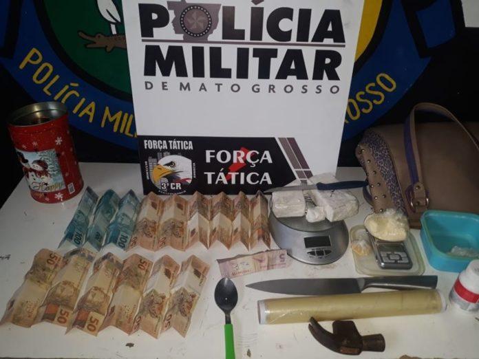 Polícia Militar desmancha ponto de tráfico de drogas em Sinop