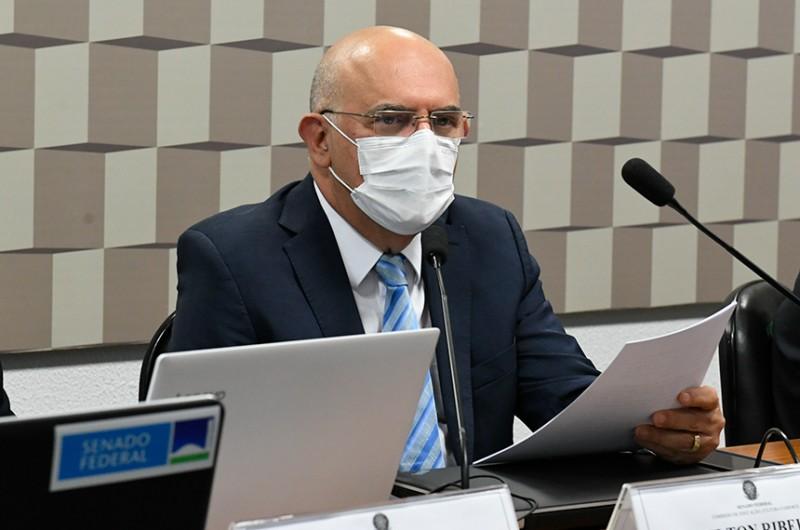 """Em audiência na Comissão de Educação, Ribeiro reconheceu que """"suas palavras não foram adequadas"""" - Roque de Sá/Agência Senado"""