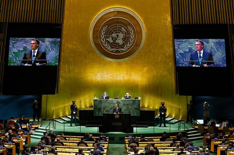 Em discurso na ONU, Bolsonaro defendeu o tratamento precoce da covid-19 - Alan Santos/PR