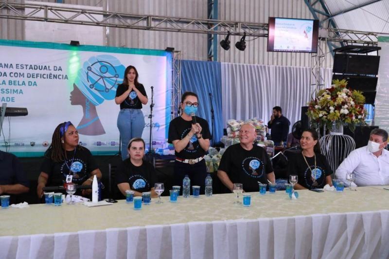 Primeira-dama de MT participa da abertura da '1ª Semana Estadual da Pessoa com Deficiência' em Vila Bela - Foto por: Jana Pessoa