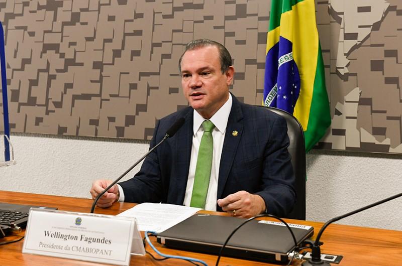 Wellington Fagundes foi eleito presidente do colegiado - Roque de Sá/Agência Senado