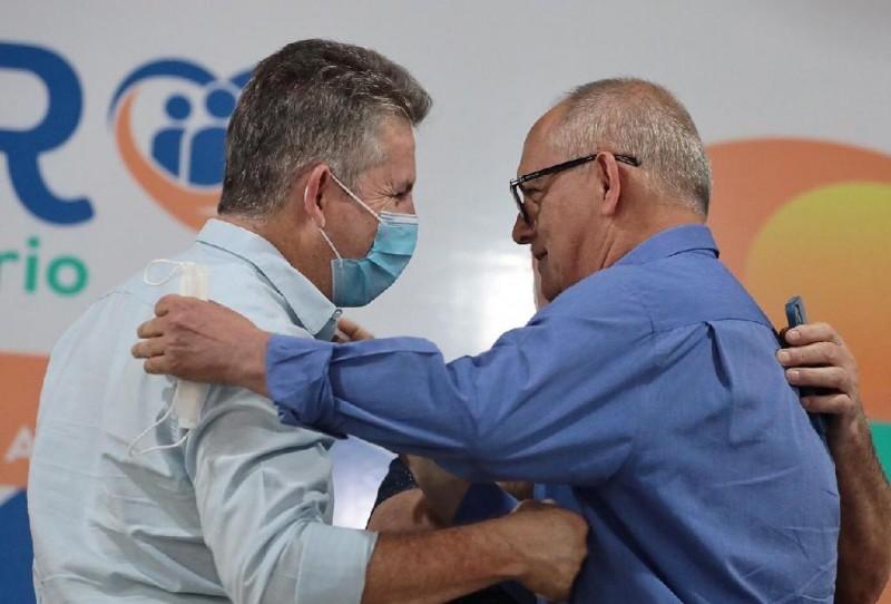 Governador Mauro Mendes e prefeito José Carlos do Pátio - Foto por: Mayke Toscano/Secom