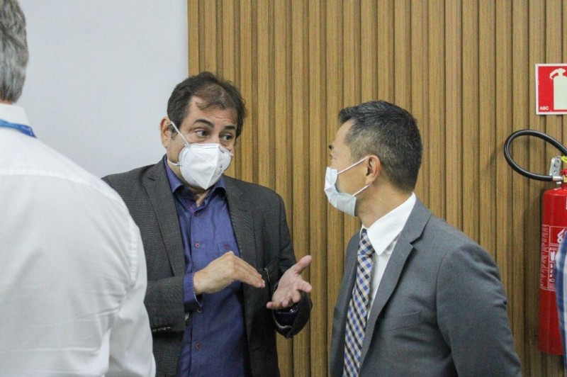 Secretário visita central energisa - Foto por: AGER/MT