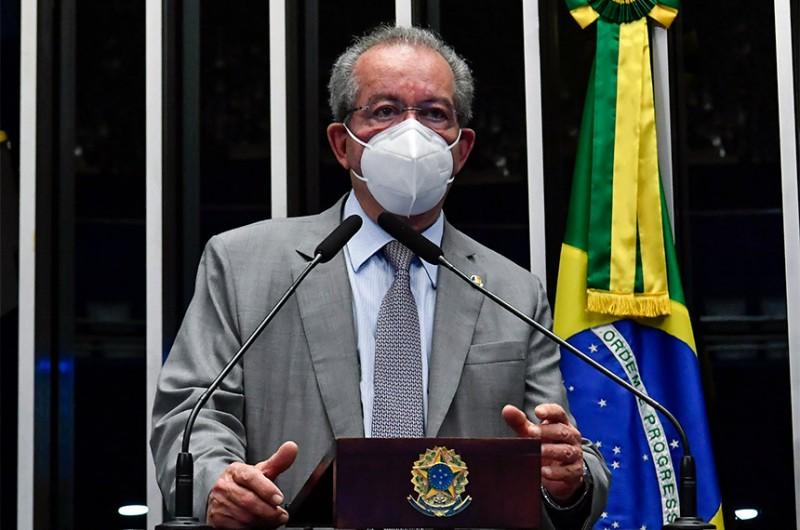 José Aníbal em sessão semipresencial do Senado - Waldemir Barreto/Agência Senado