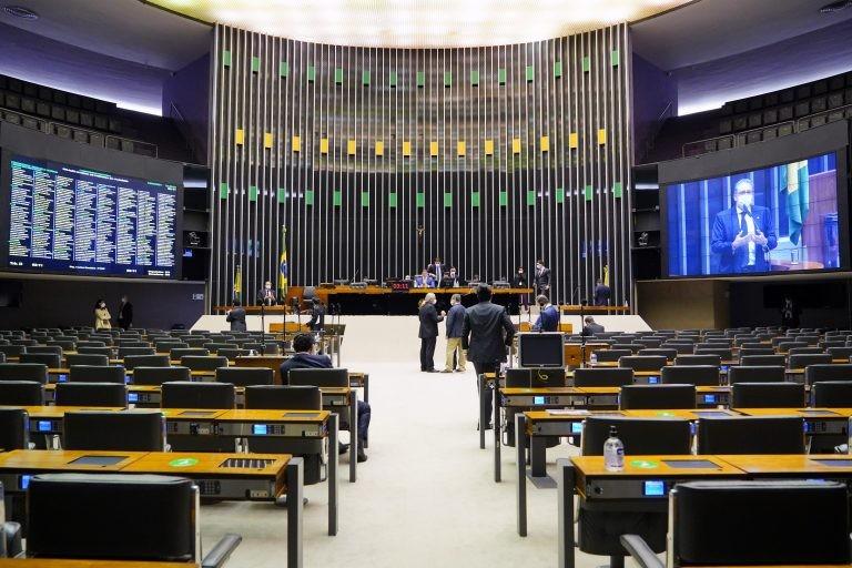 Sessão virtual do Congresso Nacional - (Foto: Pablo Valadares/Câmara dos Deputados)