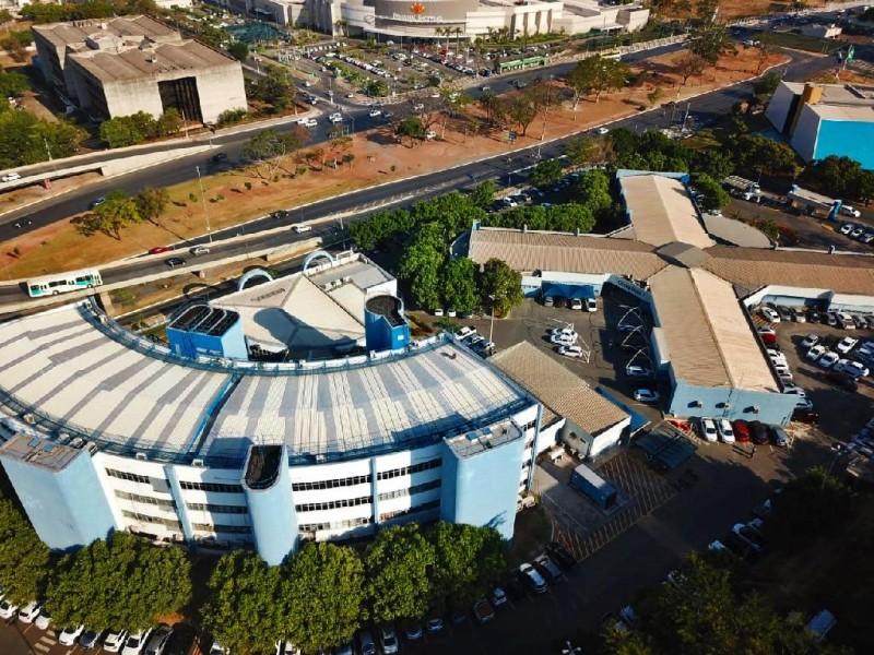 Imagem aérea da sede da Secretaria de Fazenda, em Cuiabá - Foto por: Assessoria Sefaz-MT