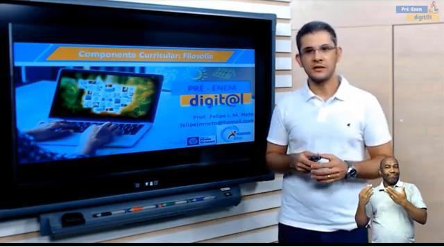 Aulas de introdução à filosofia com o professor Felipe Moraes - Foto por: Seduc-MT