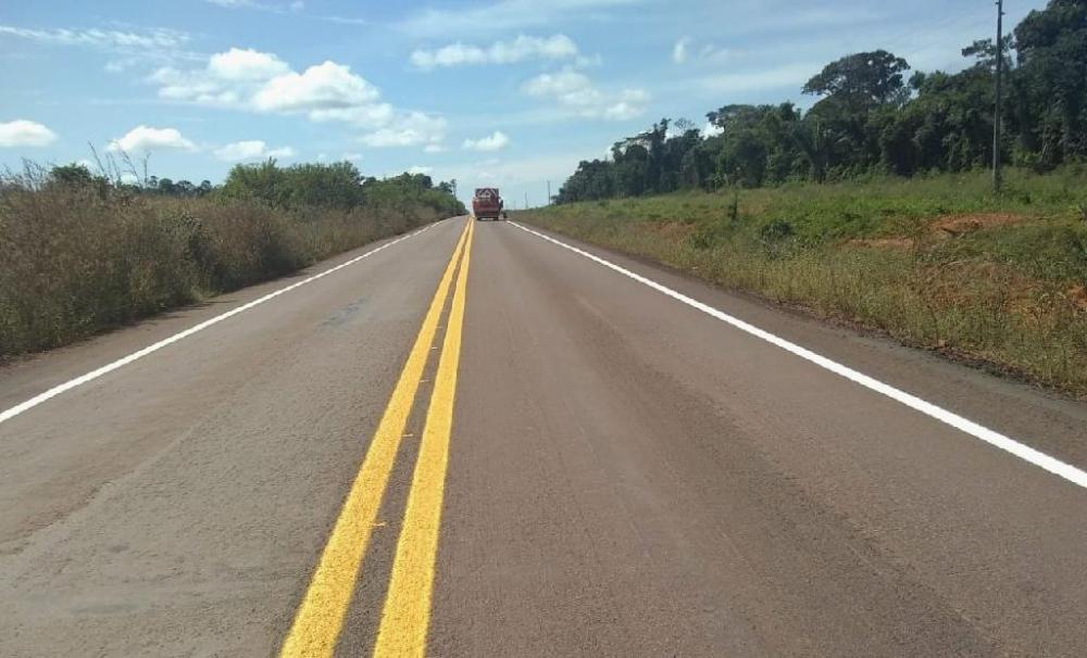 Governo finaliza restauração de 40 km na MT-422 - Foto por: Sinfra-MT