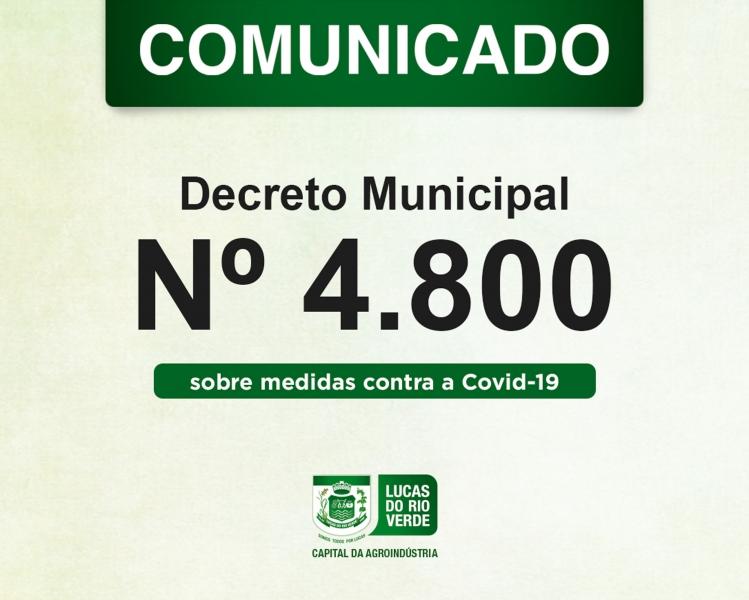 Decreto municipal estabelece novas restrições durante a pandemia do Coronavírus