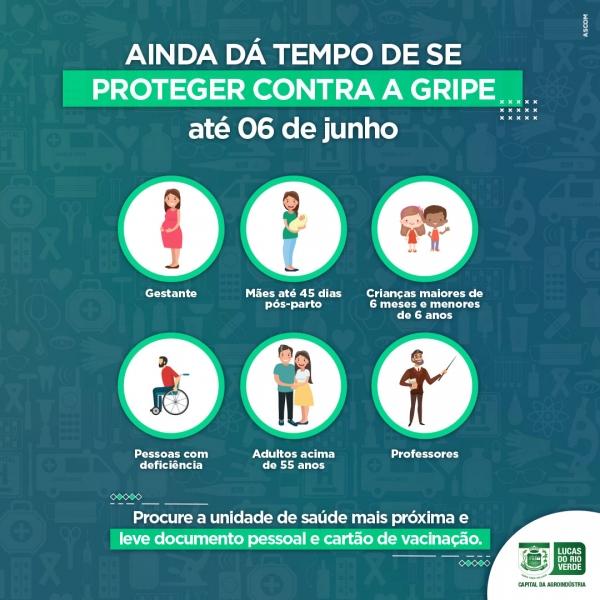 Lucas do Rio Verde ainda tem vacina contra gripe para grupos prioritários