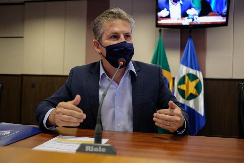 O governador Mauro Mendes está em sua residência em Cuiabá, em isolamento social - Foto por: Mayke Toscano/Secom