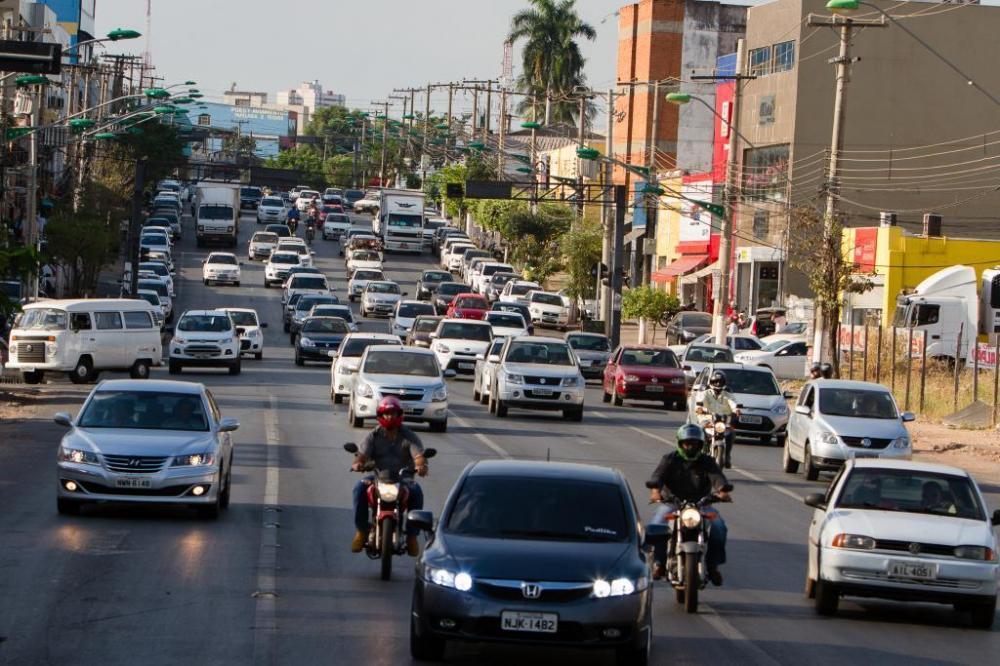 Trânsito de Cuiabá - Foto por: Secom-MT