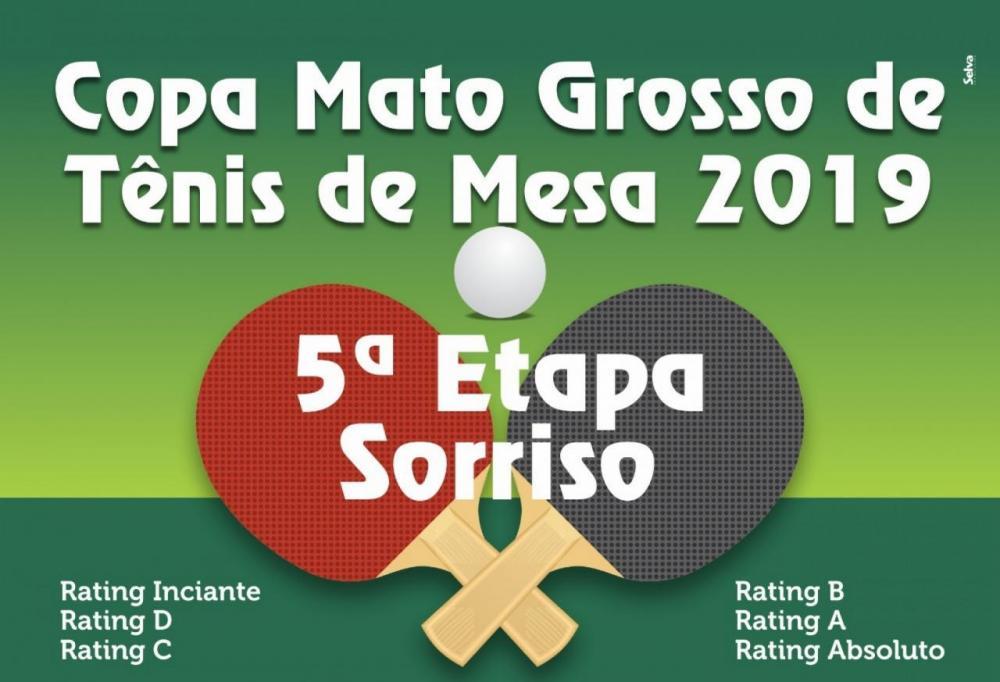 Sorriso será sede da 5ª etapa da Copa Mato Grosso de Tênis de Mesa