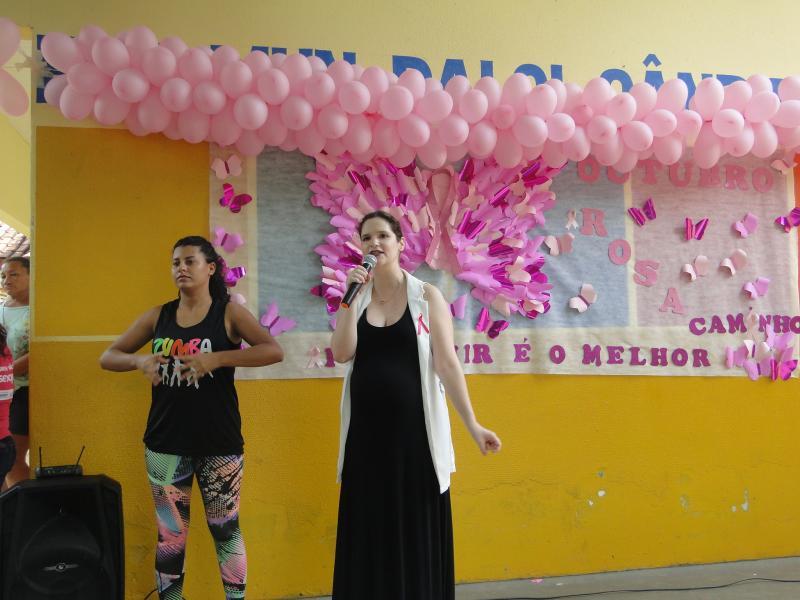 """No Jardim Petrópolis, Escola """"Dalci"""" é sede do Outubro Rosa/2019 em Nobres"""