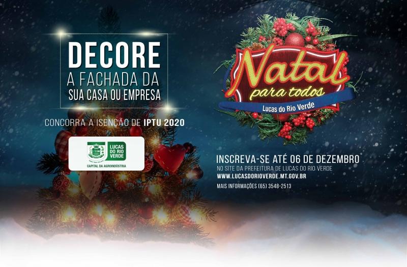 Inscrições para o concurso de decoração natalina em LRV começam na próxima segunda-feira (18)