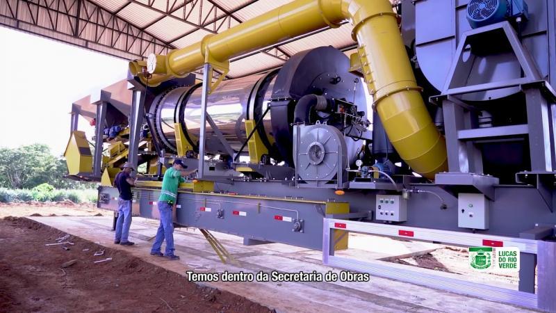 Instalação da usina de asfalto